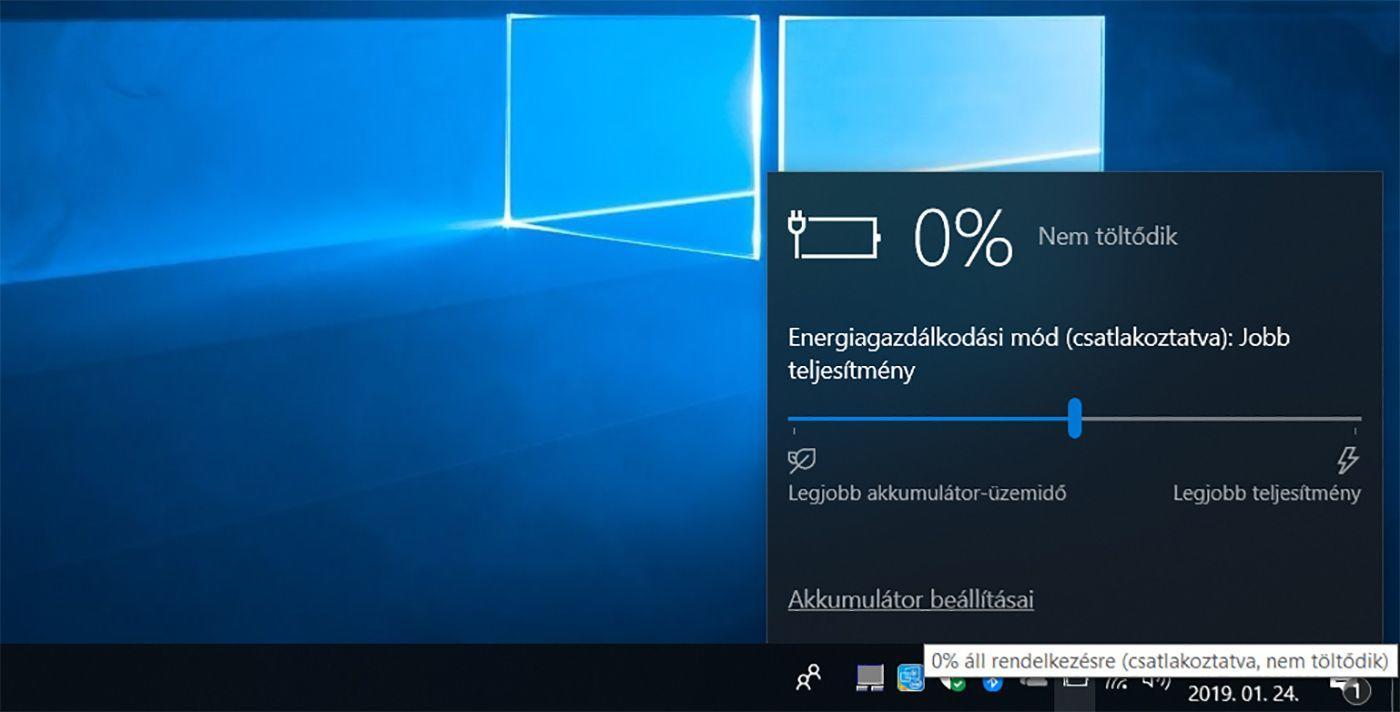 Laptop Akkumulátor Csatlakoztatva de nem töltödik